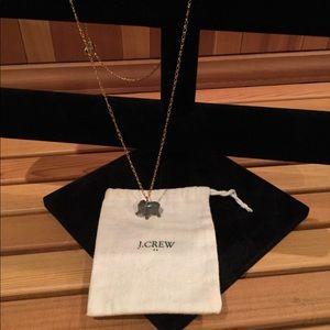 J. Crew Enamel Elephant Necklace